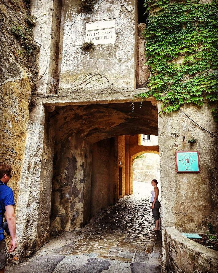 La porta d'accesso alla Cittadella Calvi Corsica