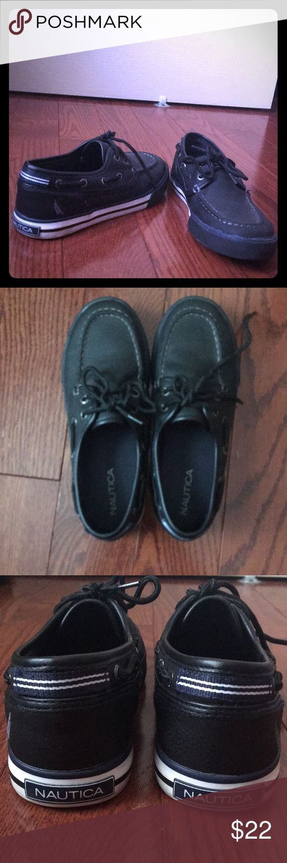 BOYS NAUTICAL SHOES Worn once navy front tie great condition very minor wear ! Nautica Shoes Moccasins