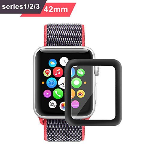 Bestfy 3D Full Coverage Screen Protector for 42mm Apple Watch Tempered Glass Anti-Scratch Bubble-Free for iWatch 42mm with Series 1/ 2/ 3 1 Pack