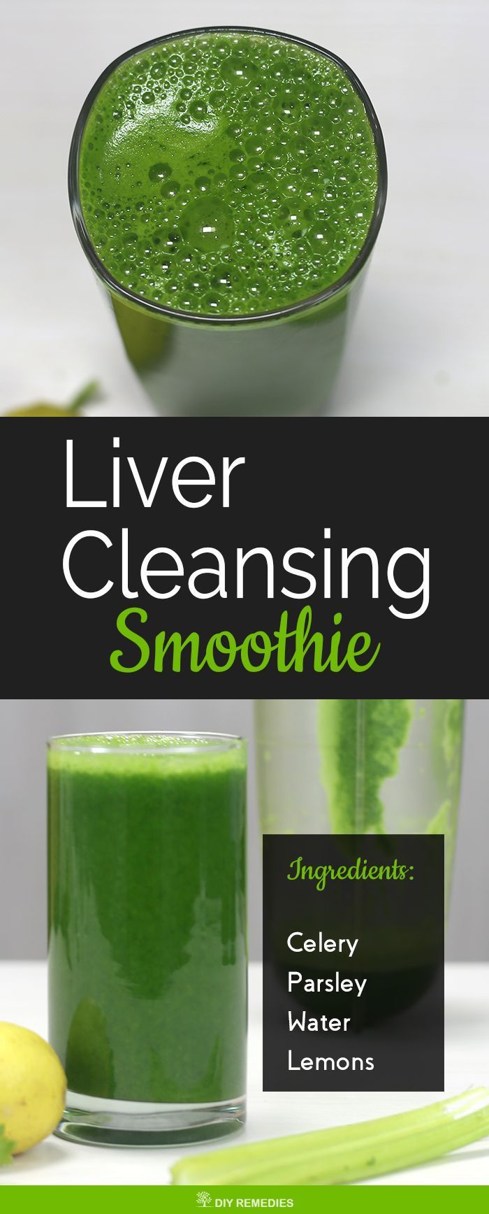 Liver Cleansing Smoothie    This liver detox smoothie helps to cure liver damage and supports the liver to boost the detoxification process. This is a 100% vegan and gluten-free smoothie suitable for people with a restrictive diet.  #DIYRemedies #Smoothie