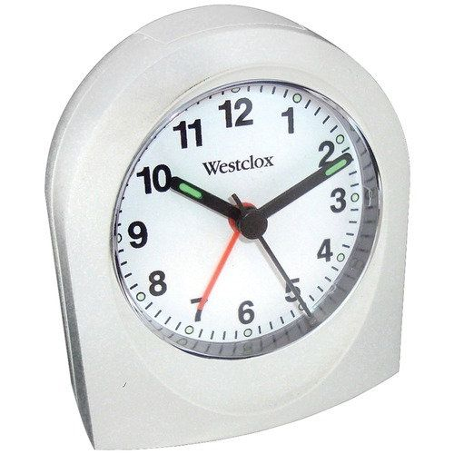 Westclox Bedside Analog Alarm Clock (white)