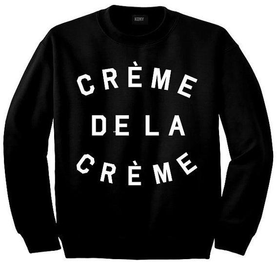 Creme De La Creme Crewneck Sweatshirt By Kings Of NY Black Beyonce Fashion High New York end tumblr vintage 80s