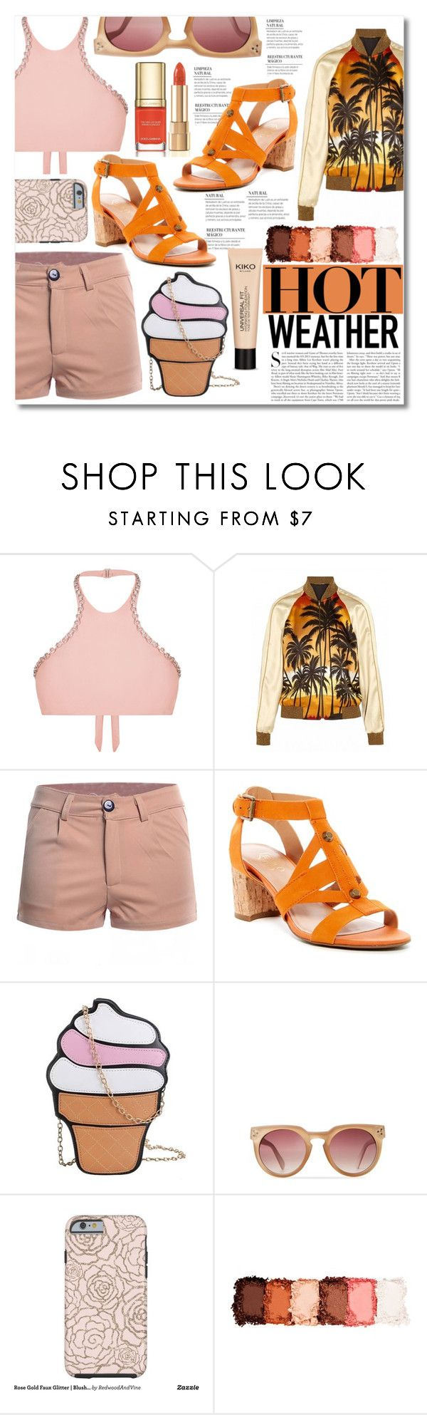 """Hot Weather Outfit"" by elizabeth4ever ❤ liked on Polyvore featuring Franco Sarto, Kershaw, Dolce&Gabbana and NYX"