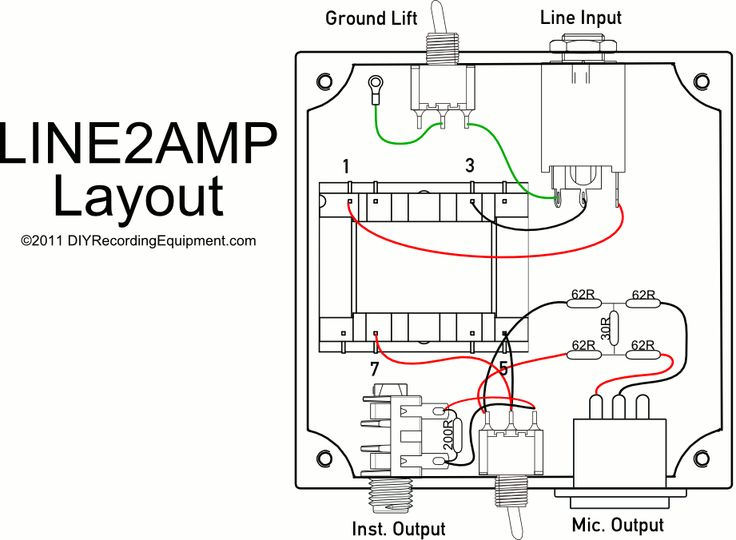 line2amp reamping box layout