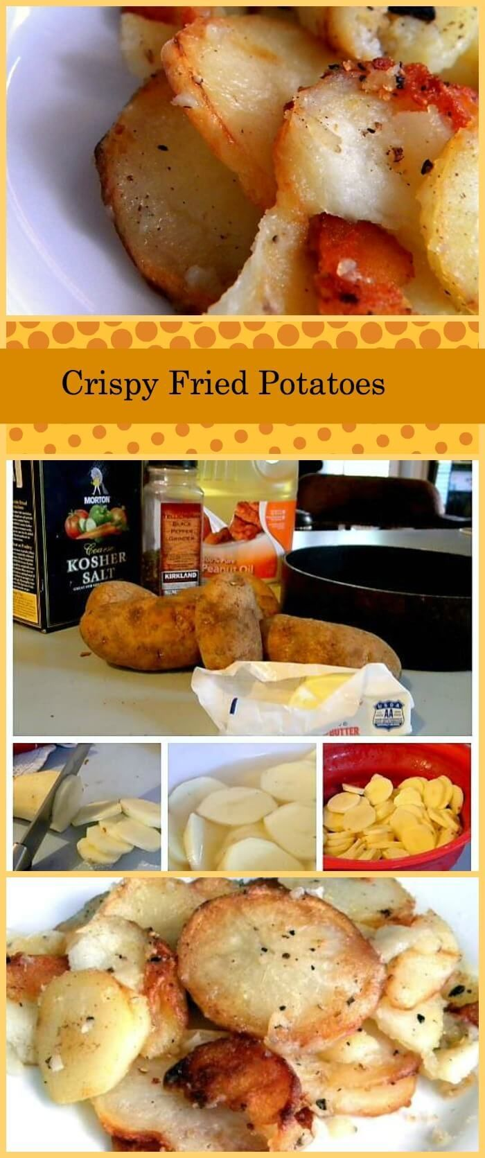 Pan fried potatoes, or home fries, that are perfectly crispy aren't difficult but there is a trick to getting that golden crust and tender, buttery interior. I'm sharing my tips and tricks for getting them perfect every time. Here they are -- just like you remember. via @Marye at Restless Chipotle