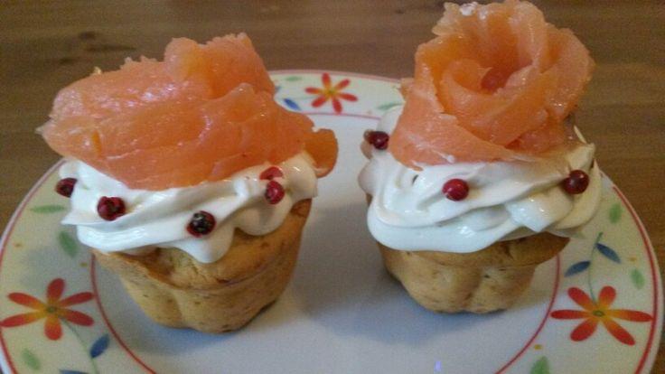 Muffin con salmone affumicato