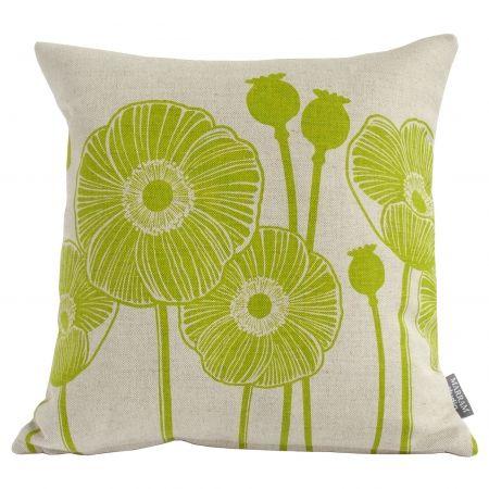 Poppy Scottish Linen Cushions - hardtofind.