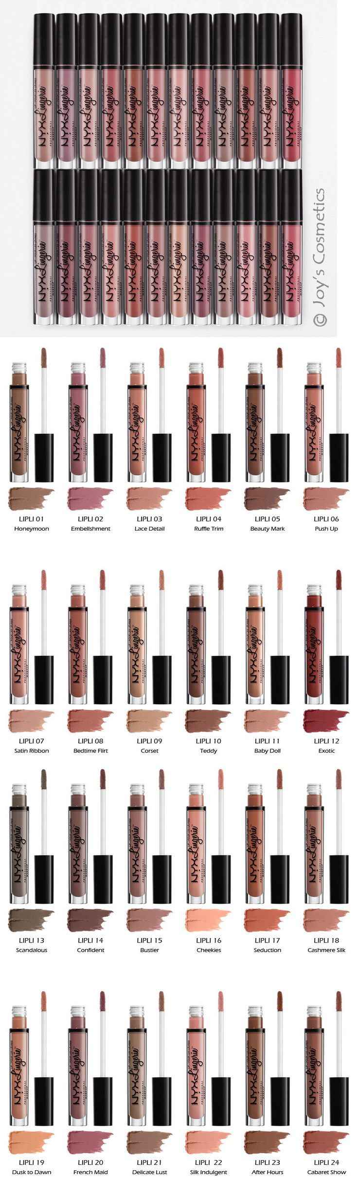 Beauty Makeup: 24 Nyx Lip Lingerie Liquid Lipstick - Matte Finish Full Set *Joys Cosmetics* -> BUY IT NOW ONLY: $120.99 on eBay!