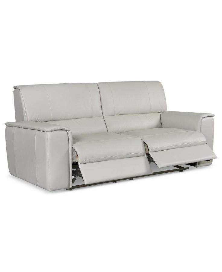 Sofa Mart Deion Leather Reclining Sofa Power Recliner W x D x Sofas OnlineFurniture