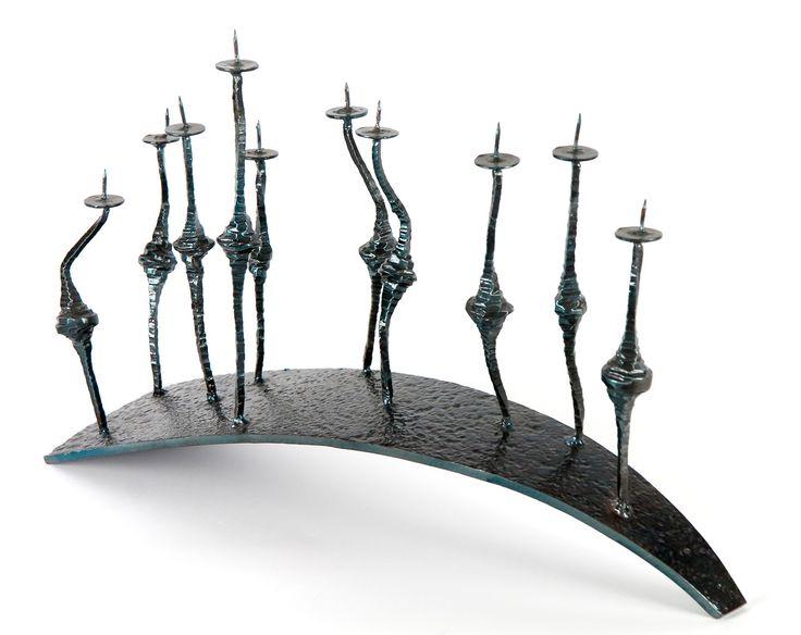 Anadora Lupo metal sculpture - Procession