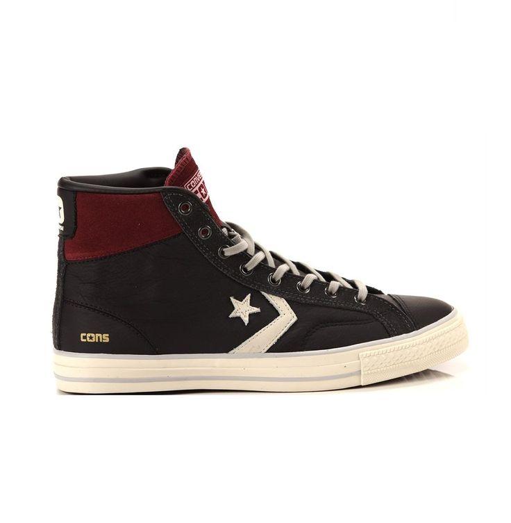 Scarpa converse 155135c uomo sneaker star player hi black fw 17/18