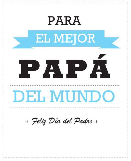 Dibujos para Colorear: Tarjetas para felicitar el Día del Padre
