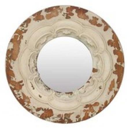Rustic round mirror - hardtofind.