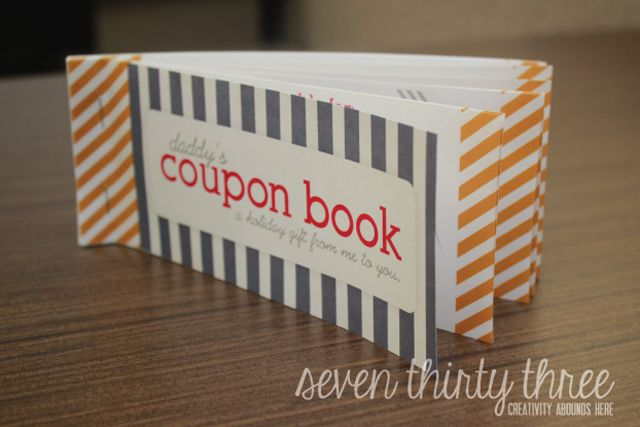 Show Dad the Love With These Free, Printable Father's Day Coupon Books: Daddy Coupon Book from Seven Thirty Three