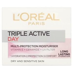 L'Oreal Paris Triple Active Dry Sensitive Moisturiser 50ml