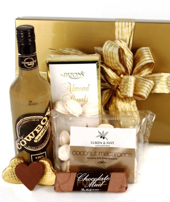 #flowers #australia #gifts #hamper -   The ultimate creamy liqueur together with chocolate treats will have you licking your lips. Bacchus Cowboy Chocolate Smoothie 700ml Patons Almond Royals 100g Luken and May Coconut Macaroons 100g Chocolate Mud Fu