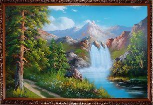 Водопад - Водопады <- Картины маслом <- Интерьер <- VIP - Каталог | Универсальный интернет-магазин подарков и сувениров