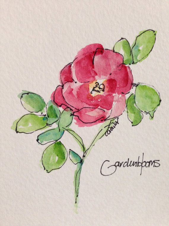 Roses Beautiful Roses Watercolor Card by gardenblooms on Etsy