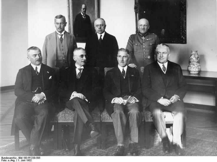 Chancellor Franz von Papen with his cabinet, 1 Jun 1932