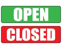 Bank Drive Thru Open Closed LED Signs - Signal-Tech