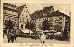 Ansichtskarte / Postkarte Jena in Thüringen, Sonntagsfrühschoppen auf dem Markt…