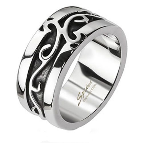 Stainless Steel Embossed Vines Cast Band Ring Size 6 10 | eBay