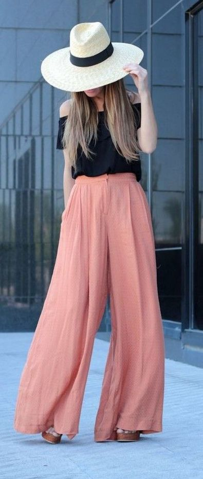 Trendy Street Style Outfits With Palazzo Pants
