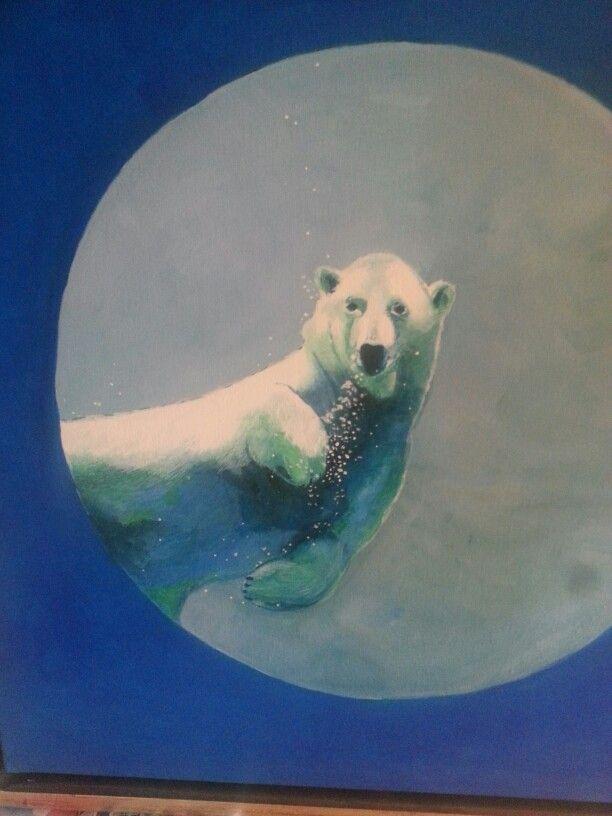 Min isbjørn under vand.