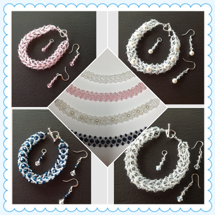 Bracelets,earrings,pendant I made - need another style
