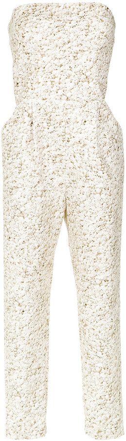 Andrea Marques printed bandeau jumpsuit