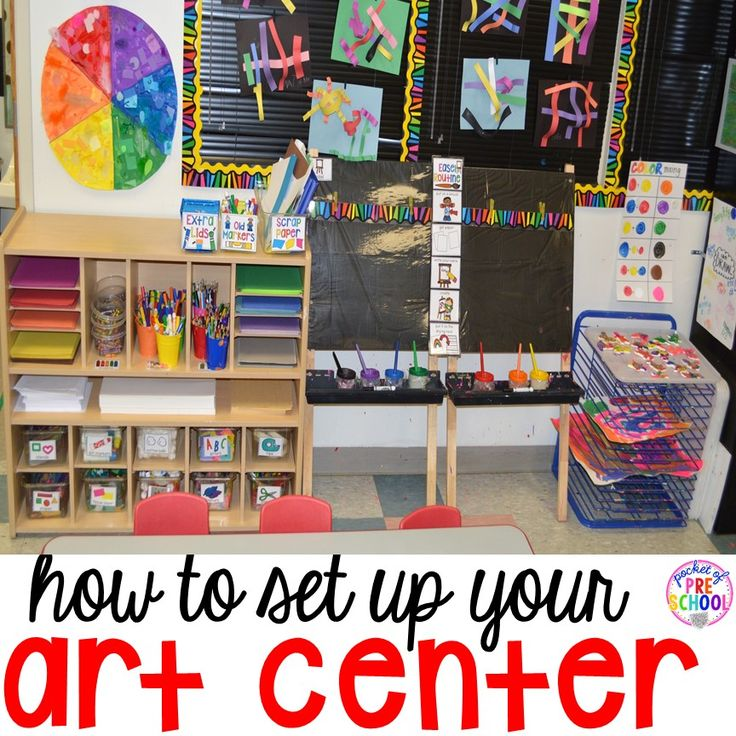 The art center is a place where students can go to express their feelings, ideas, and be creative! Every child is an artist in the art center! It is a place that promotes high level thinking, problem