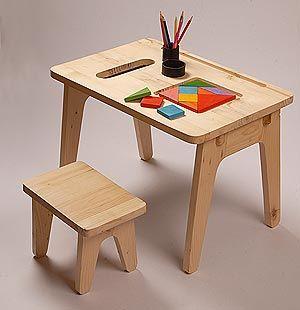 Mesa de madeira para crianca 5