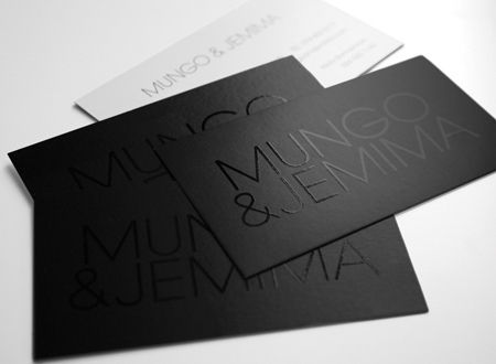 Mungo & Jemima Business Cards | Spot UV on black, Business C… | Flickr