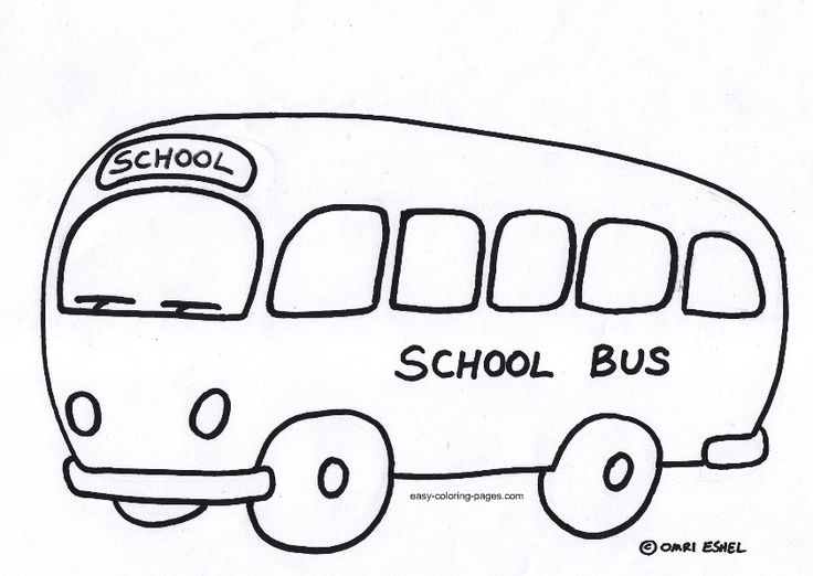 school bus coloring pages for preschoolers