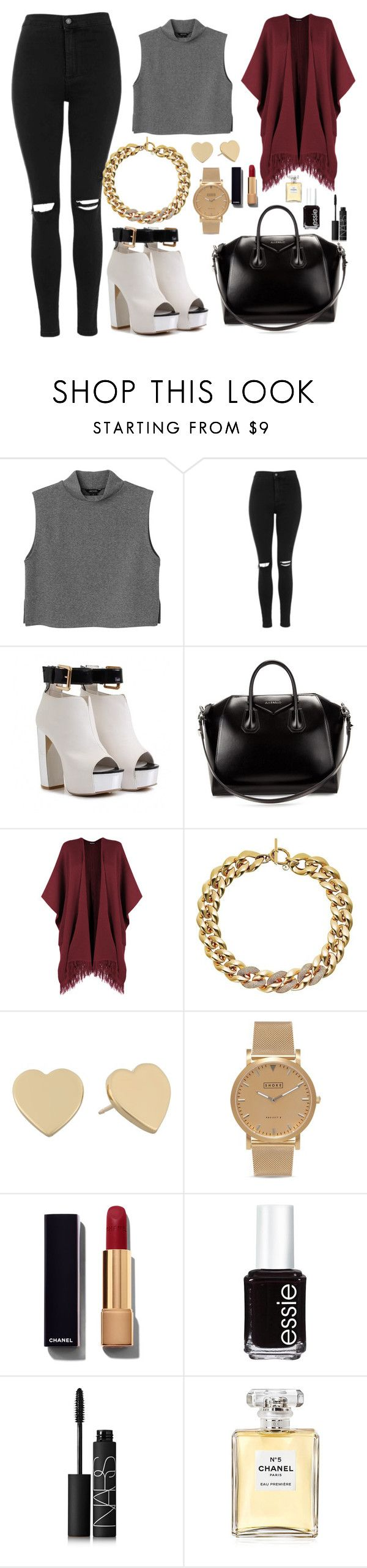 """""""Untitled #163"""" by marr-neubauerova on Polyvore featuring Monki, Topshop, Givenchy, WearAll, Michael Kors, Kate Spade, Shore Projects, Chanel, Essie and NARS Cosmetics"""