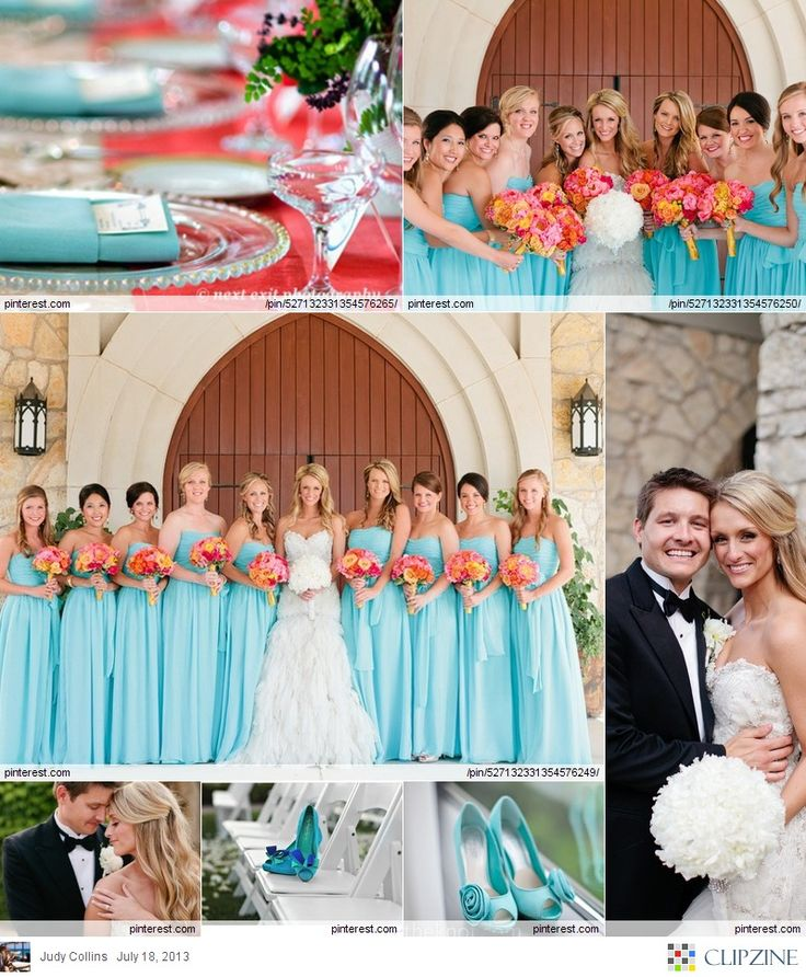 Turquoise Weddings...I love that this color is the trend now. This was my color when I got married 5 years ago.