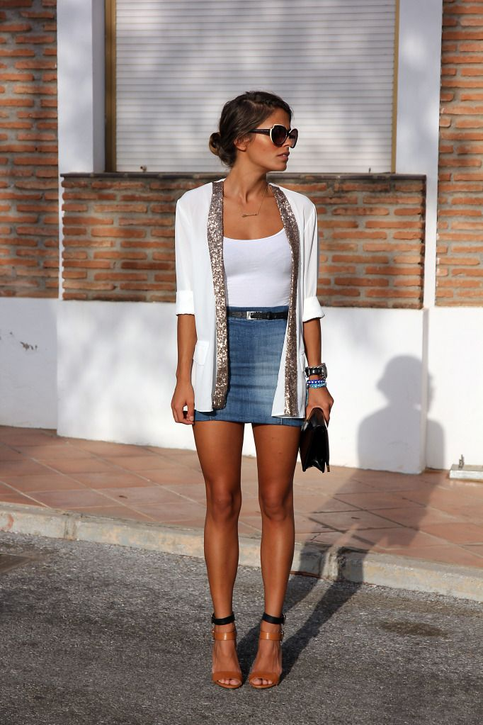 trade out that hideous skirt for some black high wasted shorts with a wrap belt and I'm in! I'd even settle for some jean mini shorts