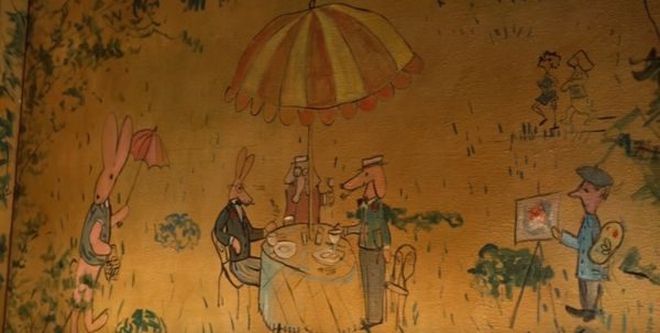 It's the only remaining place where Bemelmans' artwork that is open to the public.
