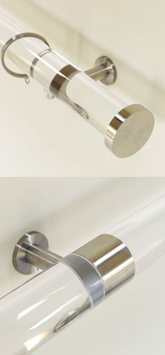 Hasta Infront Black Acrylic 28mm, 20mm 13mm Metal Curtain Pole