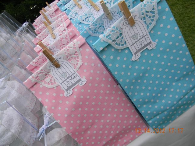 Favors at a Shabby Chic Party #shabbychic #favors
