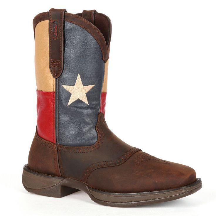 Durango Rebel Texas Flag Men's 11-in. Western Boots, Size: medium (11.5), Brown