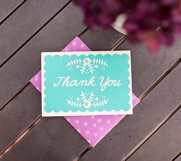 Thank You Floral Card - made with #Cricut Explore!