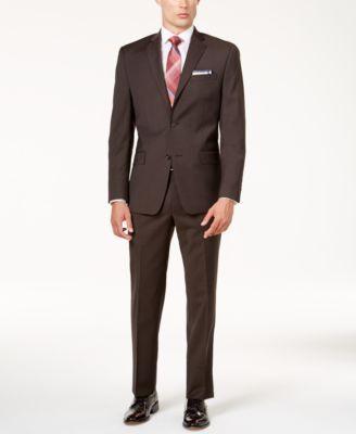 MICHAEL Michael Kors Men's Classic-Fit Brown Suit