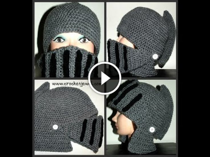 Tutorial video - Come fare all'uncinetto un cappello elmo da cavaliere da uomo/ragazzo Parte II - How to Crochet Boy's & Man's Knight Helmet Hat Part II