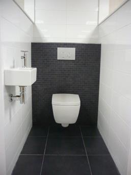 Een zwart wit toilet