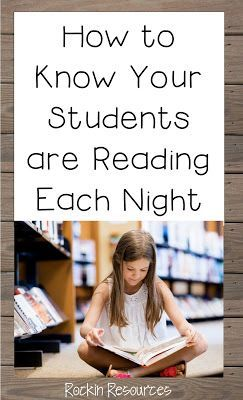 How to Know Your Students Are Reading Each Night.  Great ideas to keep students…