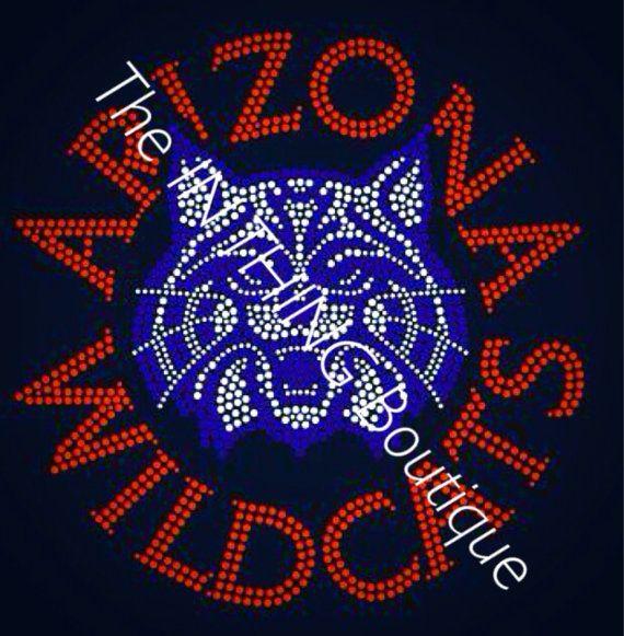 University Of AZ Arizona Wildcats Rhinestone by TheInThingBoutique