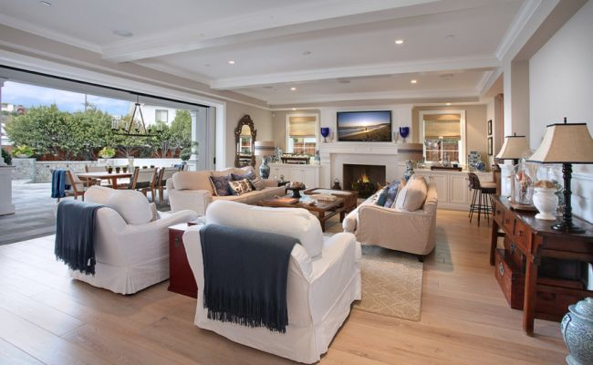 relaxed open plan living room