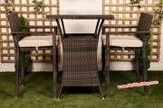Bàn ghế quầy bar nhựa giả mây được sản xuất bằng khung nhôm sơn tĩnh điện,được sử dụng trong các biệt thự sân vườn. resorts , quán cafe ... được đặt ngoài trời và chịu sự khắc nghiệt về thời tiết trong môi trường nắng, mưa của khí hậu biễn...