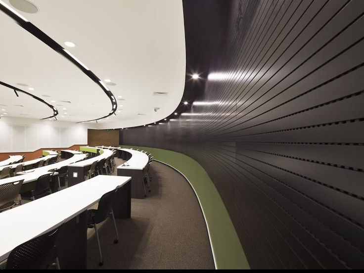 DecorLini - Linear Acoustic Planks by Decor Systems #decorsystems #acoustic #acousticsolutions #design #interiordesign #architecture #wall #ceiling #planks #university 1800 835 035